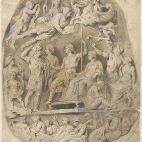"""Peter Paul Rubens, De Gemma Tiberiana, """"De Apotheose van Germanicus"""", ca. 1622. Museum Plantin-Moretus (collectie Prentenkabinet), Antwerpen - UNESCO Werelderfgoed, inv. PK.OT.00109 *"""