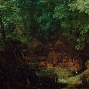Gillis van Coninxloo, Wooded landscape, oil on oakpanel, 56 x 85 cm, Vienna, Kunsthistorisches Museum, inv. 6504