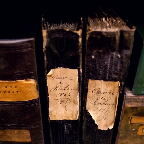 Twee bundels met documentatie over Rubens ter voorbereiding van L'oeuvre de P. P. Rubens