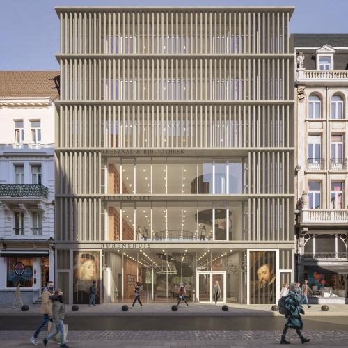 Voorgevel nieuwbouw © Robbrecht en Daem architecten