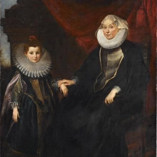Schilderij van twee vrouwen
